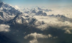 Chorten Nepal Himalayas voo Kathmandu
