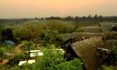 Chorten India Auroville sunset sadhana